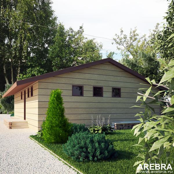 Дизайн проект деревянной бани