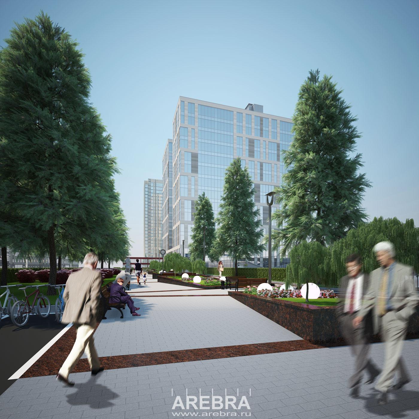 Дизайн проект благоустройства аллеи СПБ, пр. Дунайский