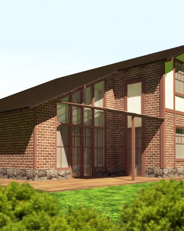 Дизайн проект экстерьеров фасадов загородного дома