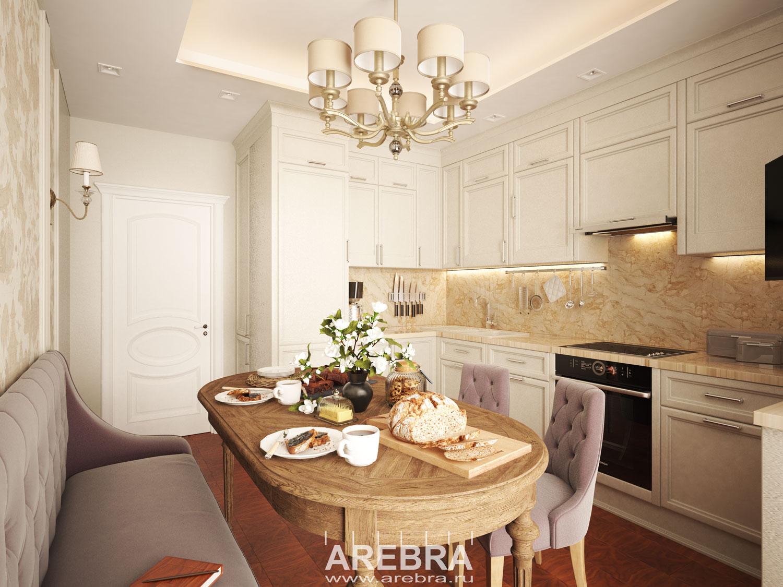 Дизайн проект квартиры СПб, ул. Гжатская 22