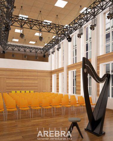 Дизайн проект Концертного зала Мариинского театра ,СПб, ул. Декабристов