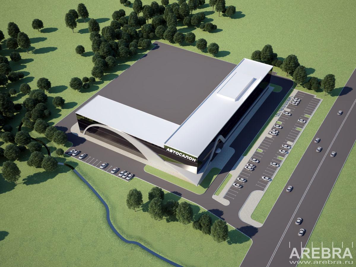 Дизайн проект архитектурного облика ТЦ Волхвы