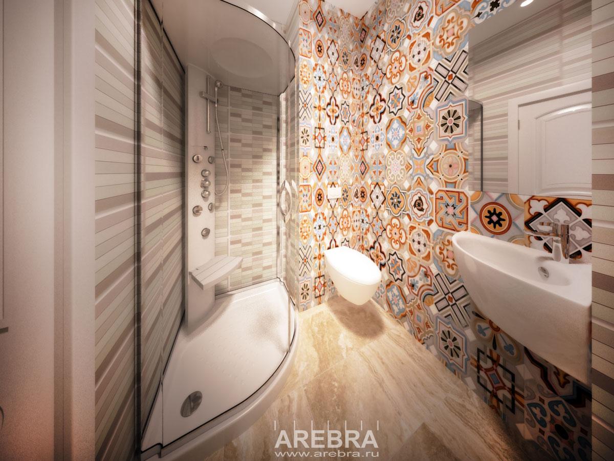 Дизайн проект интерьера салона browbar СПб, Загребский бульвар