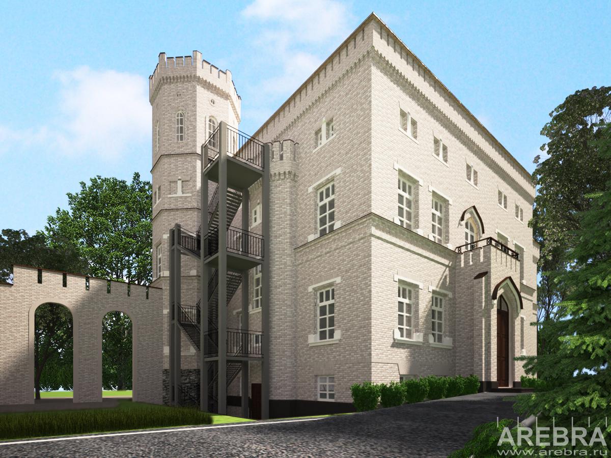 Проект по воссозданию внешнего облика усадебного дома поместья Geudken