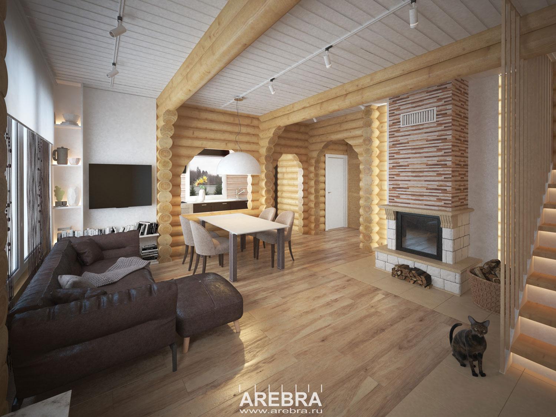 Дизайн проект интерьера загородного дома под Выборгом.