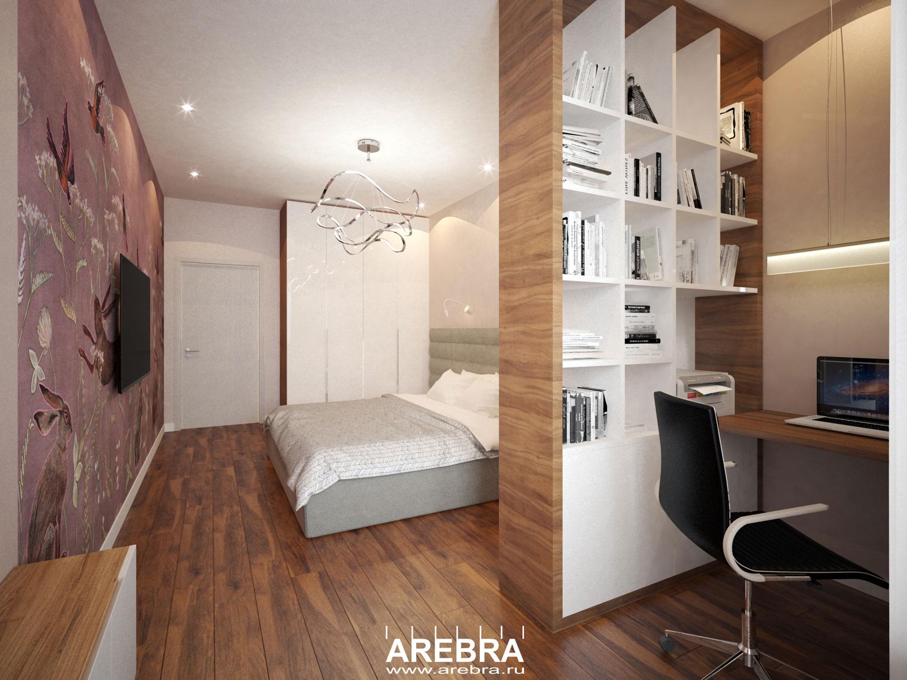 Дизайн проект квартиры площадью 83м2, в г.СПб, Новоколомяжский пр.17