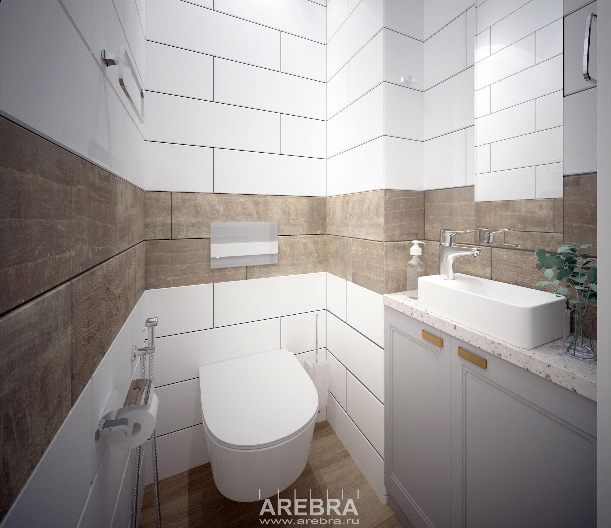 Дизайн проект части квартиры в Москве, Старые Химки.Проект кухни, туалета и ванной комнаты.