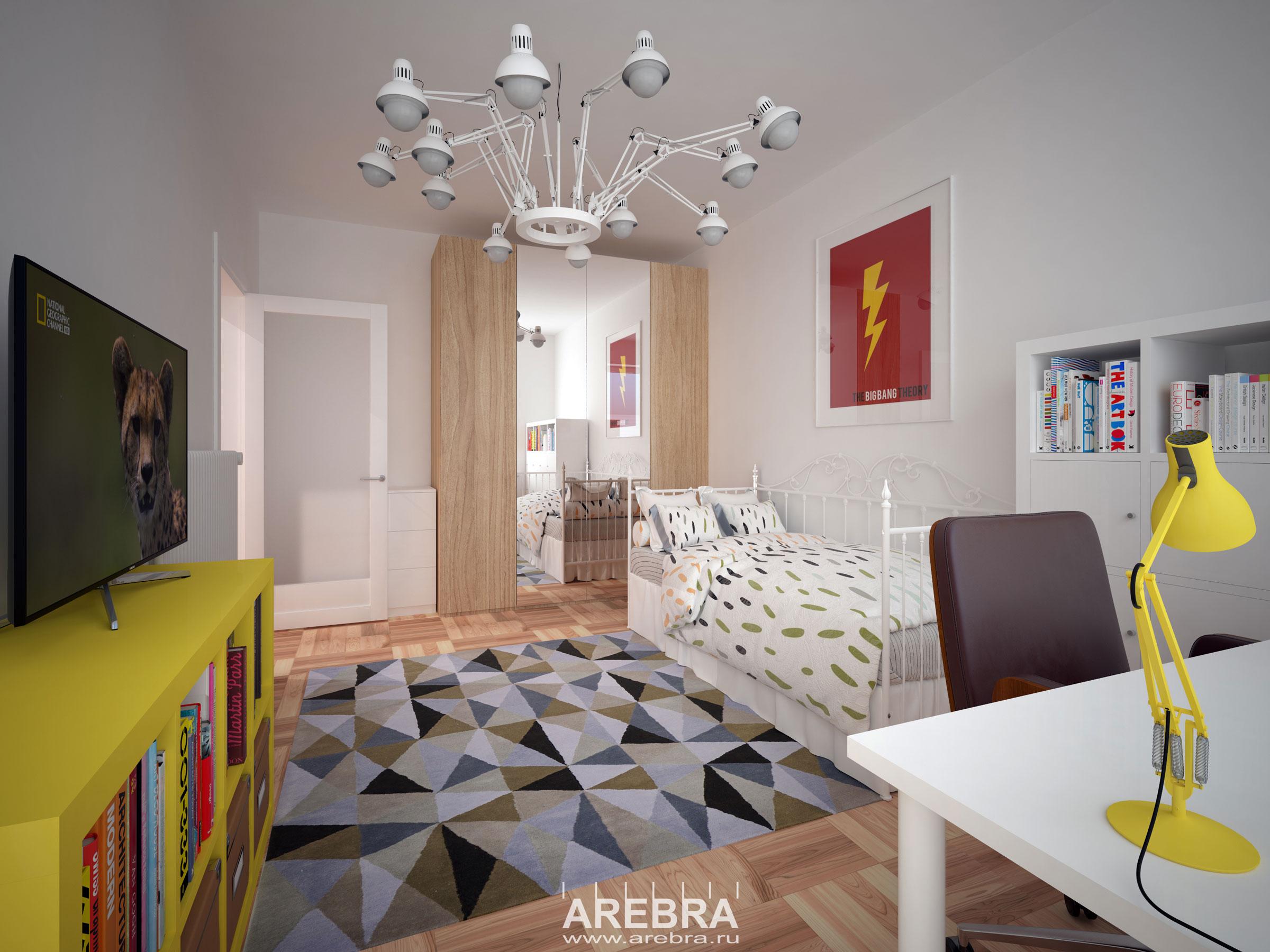 Дизайн проект интерьера части квартиры в г. Гамбург площадью 58м2.