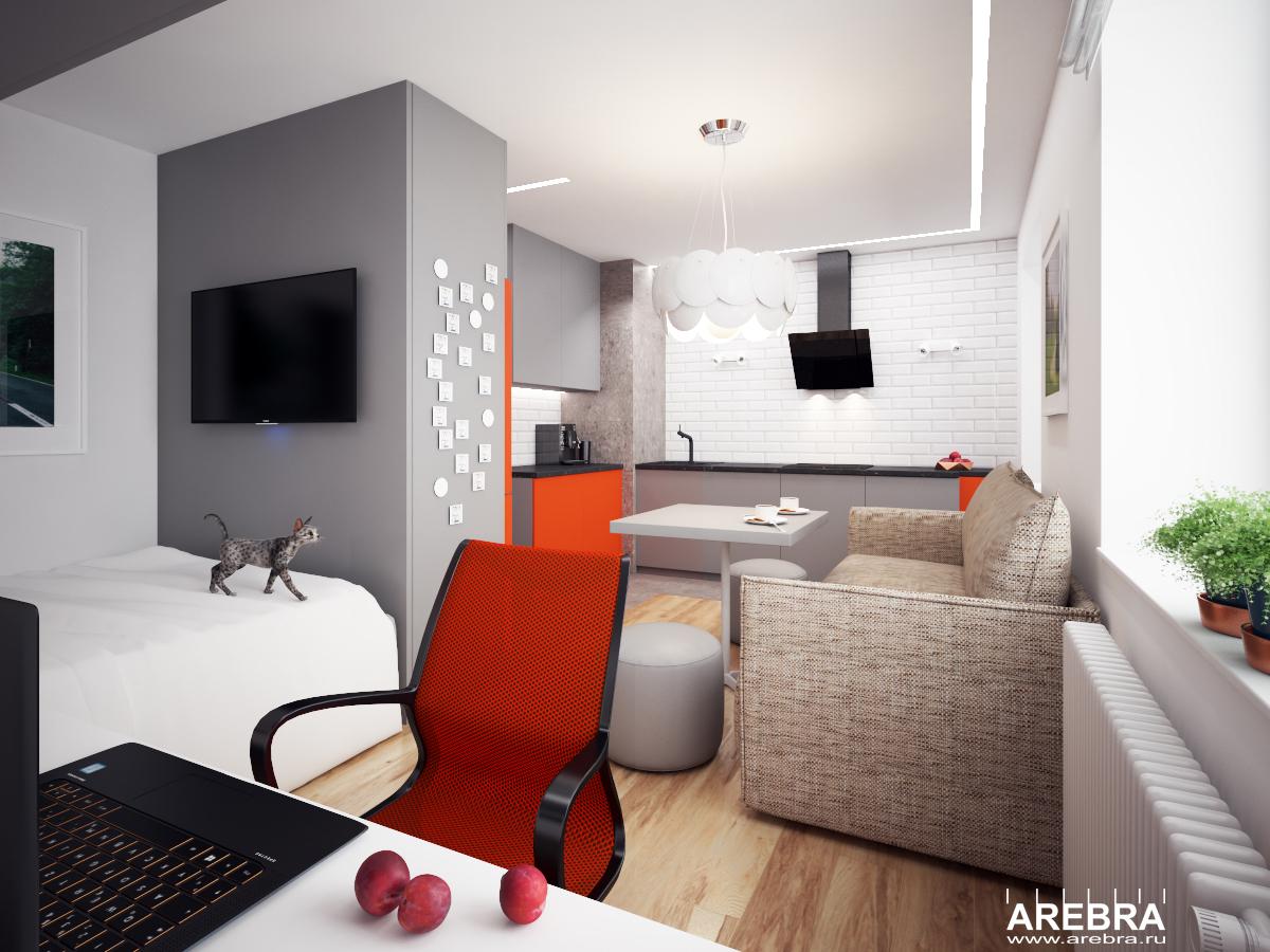 Дизайн проект интерьера квартиры в ЖК Янино, СПб., ул.Голландская, д.10