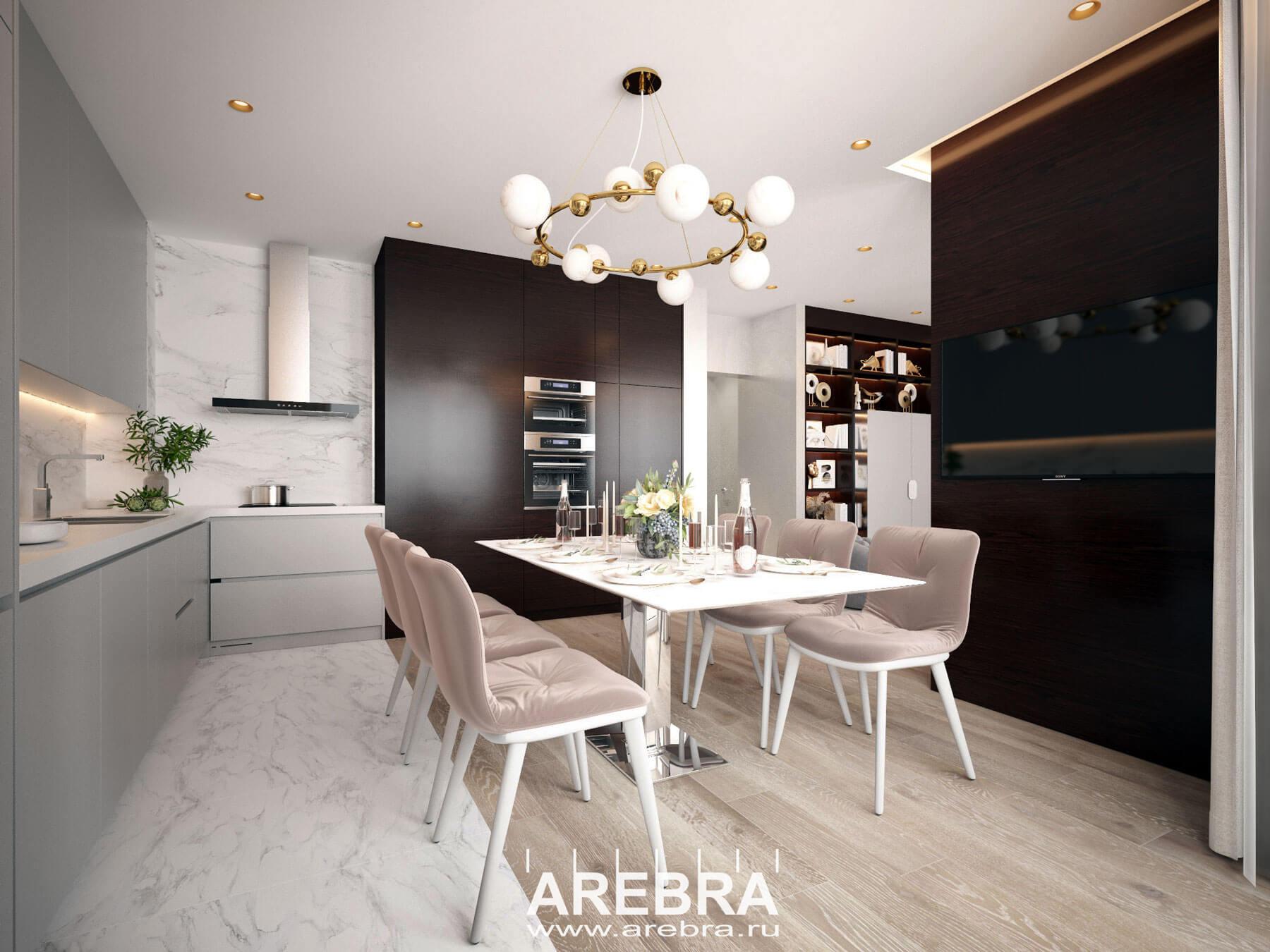 Дизайн проект интерьера квартиры по адресу г. Санкт-Петербург ул. Заречная, д.10, ЖК ПРАГМА СИТИ